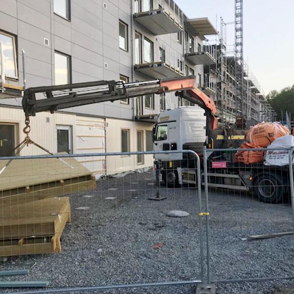 Vi hjälper med städjobb på byggarbetsplatser
